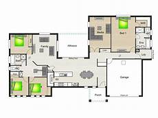 house plans with breezeways breezeway between house and garage house plan with