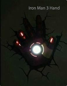 marvel avengers iron man hand glove 3d fx deco wall led night light nightlight