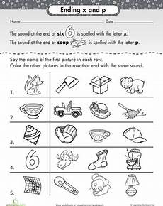 ending sounds x and p phonics worksheets first grade phonics worksheets