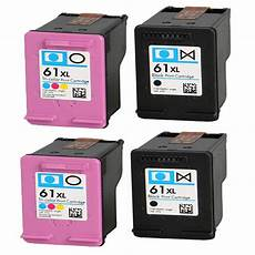 4 compatible hp61 61xl black colour ink cartridge for hp