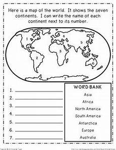 grade level 2nd grade objectives students will recognize that there are 7 continents and 5