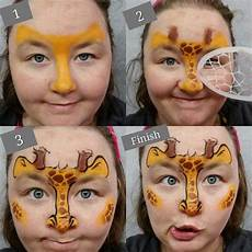 Malvorlagen Gesichter Schminken Fast Giraffe Tutorial Painting Mit Bildern