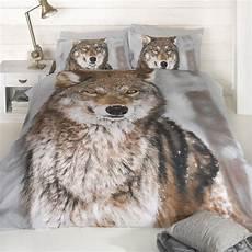 housse de couette loup loup design imprim 201 grande taille housse de couette king size animal literie ebay