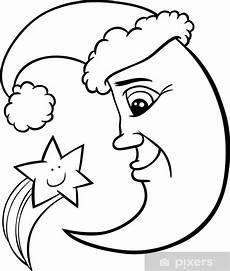 Ausmalbilder Sterne Und Mond Fototapete Mond Und Sterne Weihnachten Ausmalbilder