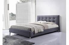 lit gris tissu avec t 234 te de lit capitonn 233 160 lit