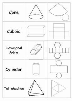 geometry nets worksheets 823 3d shapes and nets matching activity teaching resources