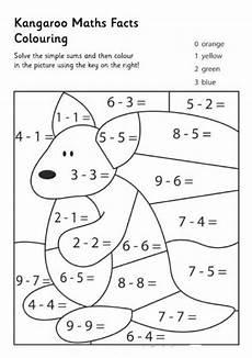 addition colouring worksheets year 1 9863 kangaroo math facts math coloring math facts math for