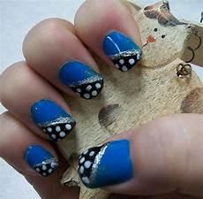 cute yet simple blue nail art designs ideas 2013 2014