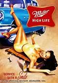 Miller High Life Sexy Girl Old Car Tool Box Beer Fridge