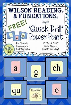 free wilson reading system 174 and fundations 174 aligned quot quick drill quot powerpoint wilson reading