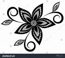 beautiful black white floral pattern design stock vector 130593629