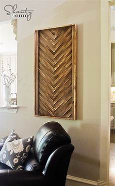 diy wall art from wood shims shanty 2 chic