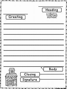 friendly letter templates back to school version education reading writing friendly