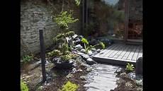 Jardin Zen Terrasse Bois Bassin Plantation