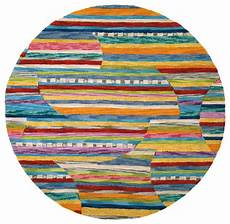 bunter runder teppich colorful jubilee rug modern boston by company c