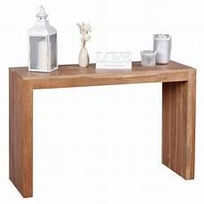bureau bois massif pas cher console massif acacia bois console bureau 115 x 40 cm