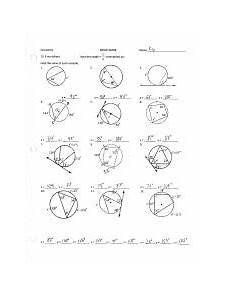 geometry worksheet inscribed angles 754 inscribed angles ws key 0 geometry 12 3 worksheet find the value of each variable a 117 u2018