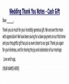 sle thank you note for money 7 exles in word pdf