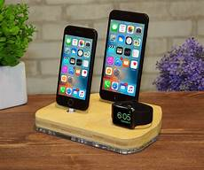 apple airpods iphone dock station stand wood etsy