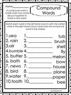 10 compound words worksheets k 1st grade literacy worksheets tpt