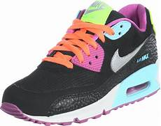nike air max 90 youth gs shoes black silver