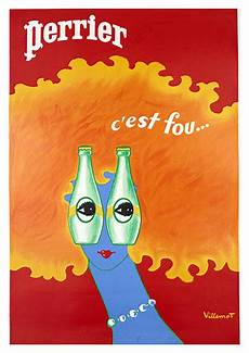 Perrier C Est Fou Vintage Food Drink Poster Arty Posters