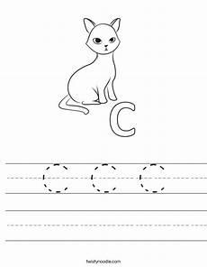 letter c for cat worksheets 24045 c c c worksheet twisty noodle