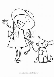 Ausmalbilder Junge Hunde Kostenlose Ausmalbilder Ausmalbild Mit Hund An Leine
