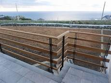 ringhiera in legno per esterno ringhiera esterna in ferro e teak acier steel