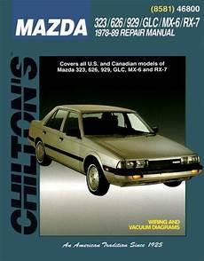 auto repair manual free download 1989 mazda 929 1978 1989 mazda rx 7 323 626 929 glc mx 6 chilton s repair service workshop shop manual