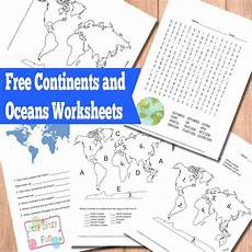 continents and oceans worksheets free word search quiz and more itsy bitsy fun