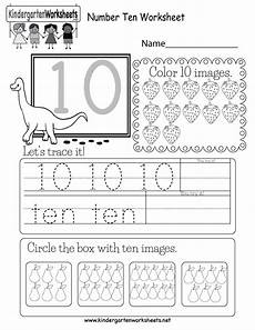 this is a fun number 10 worksheet children can trace the number and color the box wi