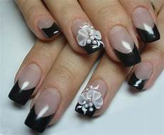 40 cool black french nail art designs that drop your jaw