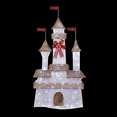 Decorations Home Depot by Home Accents 6 Ft Pre Lit Twinkling Castle Ty373