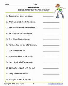 action verbs worksheets for grade 2 pdf school express action verbs worksheet education world