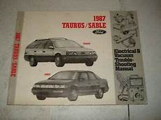 service and repair manuals 1987 ford taurus electronic toll collection 1987 ford taurus mercury sable wiring and vacuum diagram service manual ebay