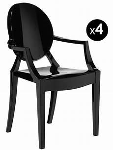 fauteuil louis ghost fauteuil empilable louis ghost lot de 4 noir opaque