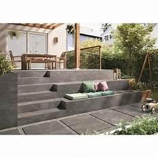 terrassenplatten auf treppe verlegen villeroy und boch my earth terrassenplatte anthrazit