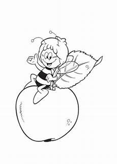 Ausmalbilder Apfel Mandala Ausmalbilder Biene Maja Maja Auf Dem Apfel Malvorlagen