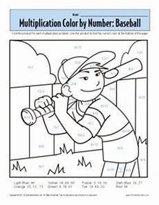 color by number multiplication worksheets 16097 multiplication color by number baseball with images 1st grade math worksheets 1st grade math