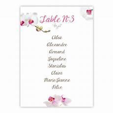 Plan De Table Orchid 233 E