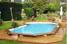 pool aus holz selber bauen rundpool umrandung holz schwimmbad und saunen