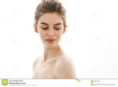 Nude Girl White Background
