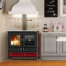 rivestimento forno a legna cucina a legna viola 10 kw con forno thermorossi