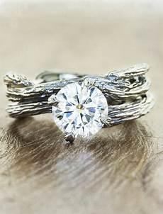 nature inspired engagement rings ken dana design