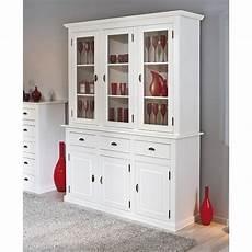 vaisselier pas cher blanc vaisselier manaus 6 portes 3 tiroirs bois blanc en