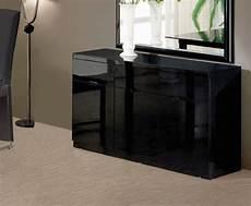swiss black high gloss small sideboard