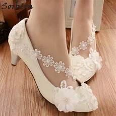 Cheap White Heels For Wedding sorbern cheap low heel fashion sweet white bridal