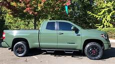review of army green 2020 tundra trd pro
