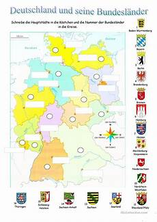 Malvorlagen Vorschule Deutschland Deutschland Und Seine Bundesl 228 Nder Arbeitsblatt